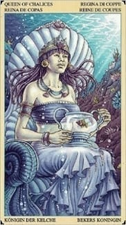 Карта Королева Чаш из колоды Таро Союз Богинь