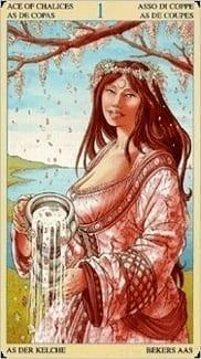 Карта Туз Чаш из колоды Таро Союз Богинь