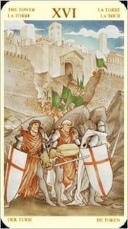 Карта Башня из колоды Таро Святой Грааль