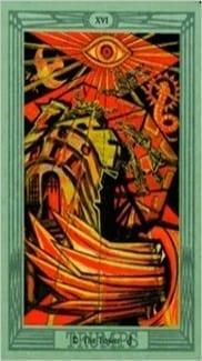 Карта Башня из колоды Таро Тота Алистера Кроули