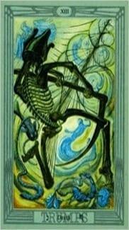 Карта Смерть из колоды Таро Тота Алистера Кроули