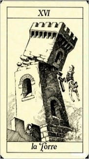 Карта Башня из колоды Таро Трёх Мушкетеров