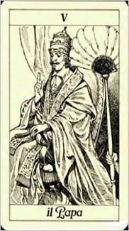 Карта Иерофант (Жрец, Папа) из колоды Таро Трёх Мушкетеров