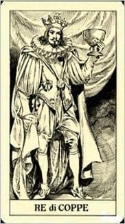 Карта Король Чаш из колоды Таро Трёх Мушкетеров