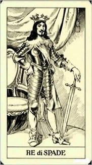 Карта Король Мечей из колоды Таро Трёх Мушкетеров