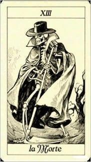 Карта Смерть из колоды Таро Трёх Мушкетеров