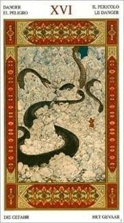Карта Башня из колоды Таро Тысяча и одна Ночь