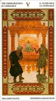 Карта Иерофант (Жрец, Папа) из колоды Таро Тысяча и одна Ночь