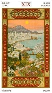 Карта Солнце из колоды Таро Тысяча и одна Ночь
