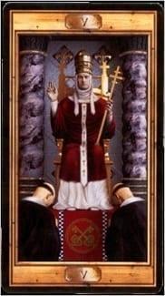 Карта Иерофант (Жрец, Папа) из колоды Таро Универсальный ключ