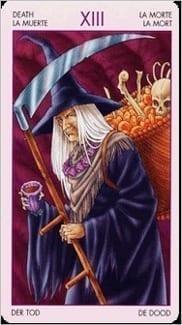 Карта Смерть из колоды Таро Ведьм