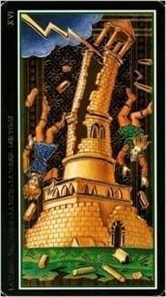 Карта Башня из колоды Таро Висконти