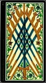 Карта Девятка Мечей из колоды Таро Висконти