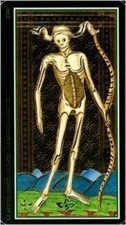Карта Смерть из колоды Таро Висконти