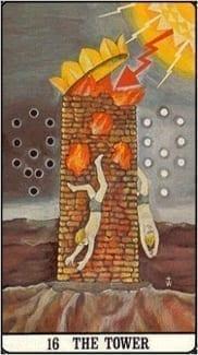 Карта Башня из колоды Таро Золотой зари