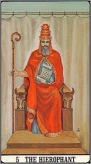 Карта Иерофант (Жрец, Папа) из колоды Таро Золотой зари