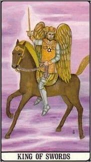 Карта Король Мечей из колоды Таро Золотой зари