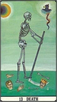 Карта Смерть из колоды Таро Золотой зари