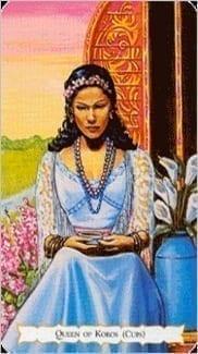 Карта Королева Чаш из колоды Цыганское Таро