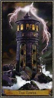Карта Башня из колоды Волшебное Таро