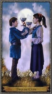 Карта Двойка Чаш из колоды Волшебное Таро