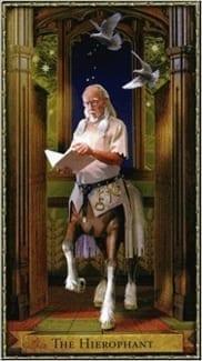 Карта Иерофант (Жрец, Папа) из колоды Волшебное Таро