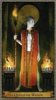 Карта Королева Жезлов из колоды Волшебное Таро