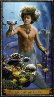 Карта Рыцарь Чаш из колоды Волшебное Таро