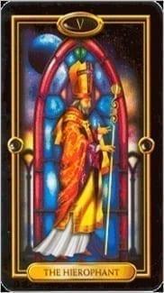 Карта Иерофант (Жрец, Папа) из колоды Золотое Таро