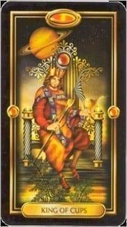 Карта Король Чаш из колоды Золотое Таро