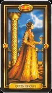 Карта Королева Чаш из колоды Золотое Таро