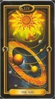Карта Солнце из колоды Золотое Таро
