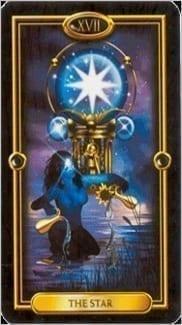 Карта Звезда из колоды Золотое Таро